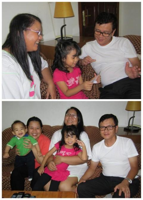 Visting Ninong and Ninang - Sharing my Bible Verses