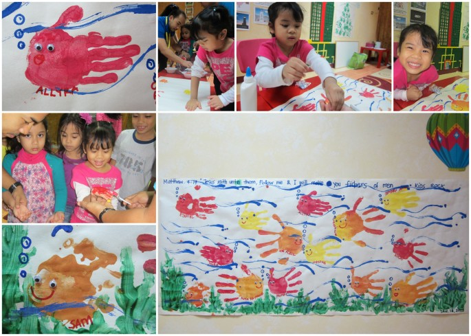 Kids Church Lesson: Fishers of Men / Activity: Fish from handprint