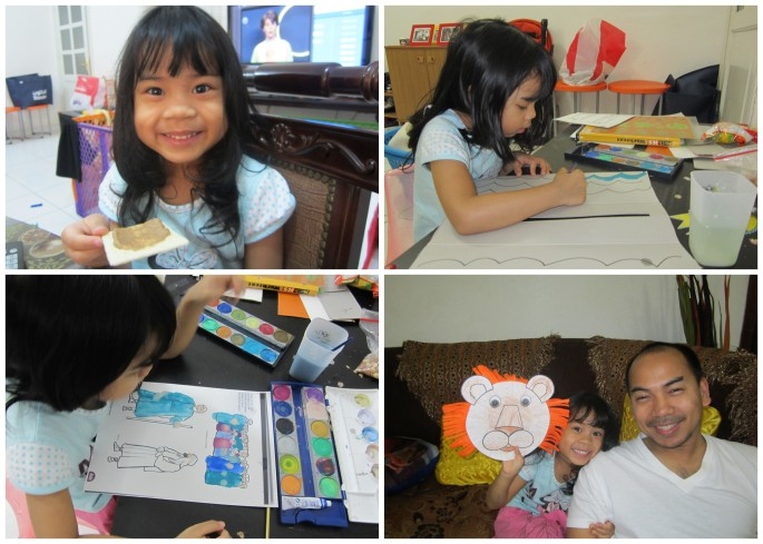 BJU Lesson: Lions / Craft: Lion from cardboard and felt
