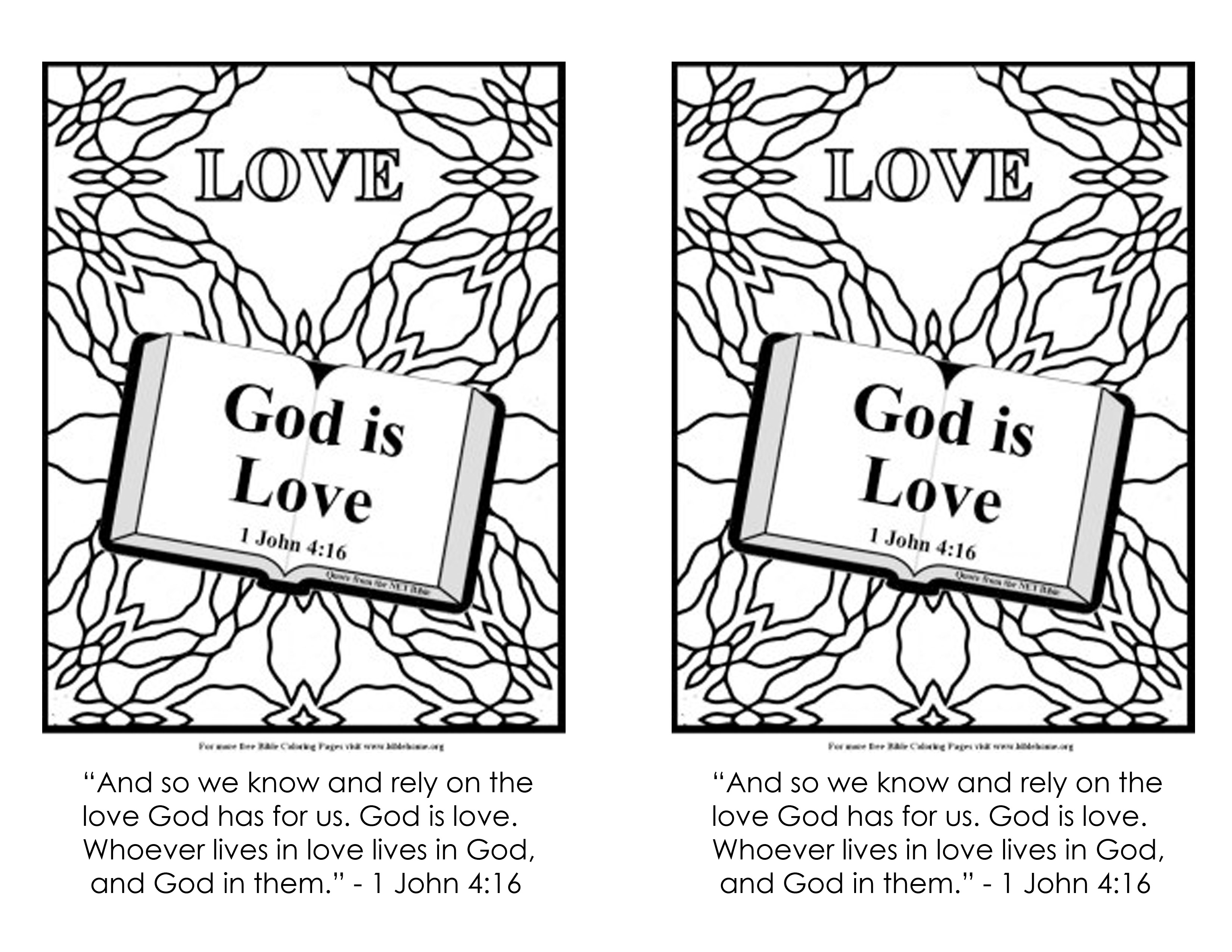 gods love coloring page