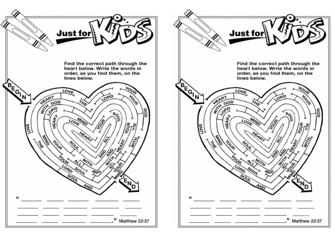 matthew 22 37 coloring page
