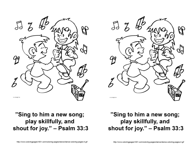 Aug 19 2013 Psalm 33 3 coloring page