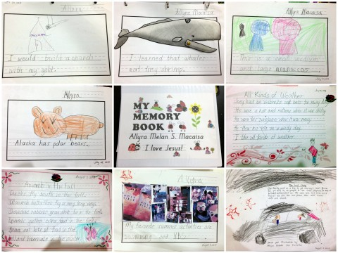 BJU lessons: Memory Book activities