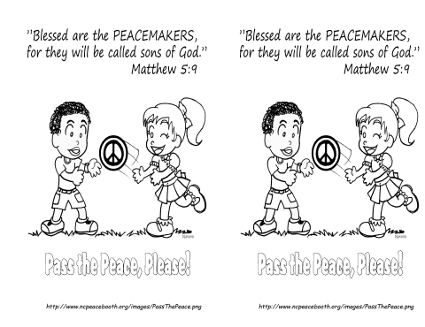 September 16  2013 Matthew 5 9 coloring page