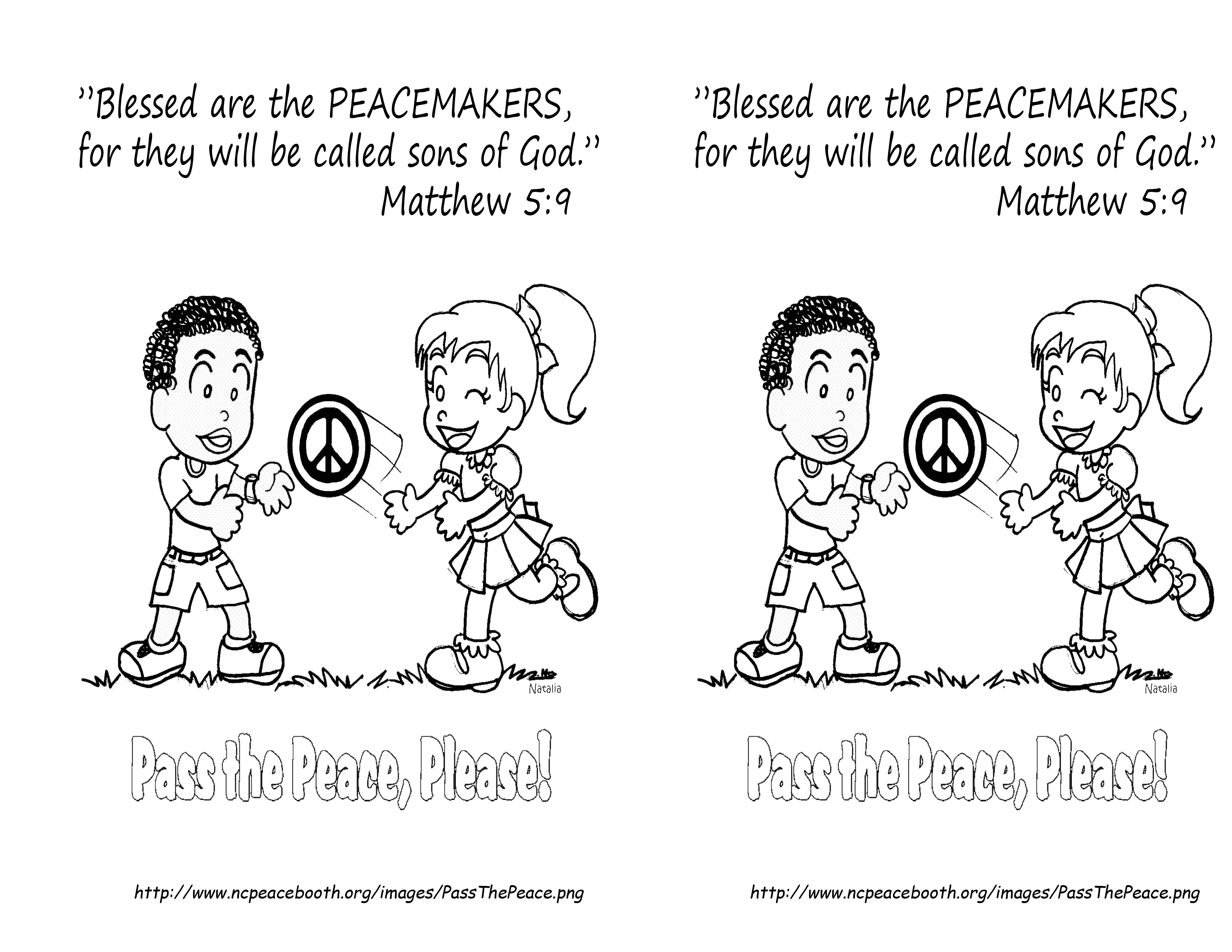 Coloring pages psalm 33 - September 16 Matthew 5 9 Coloring Page