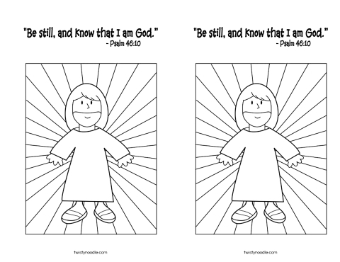 September 23 2013 Psalm 46 10 coloring page