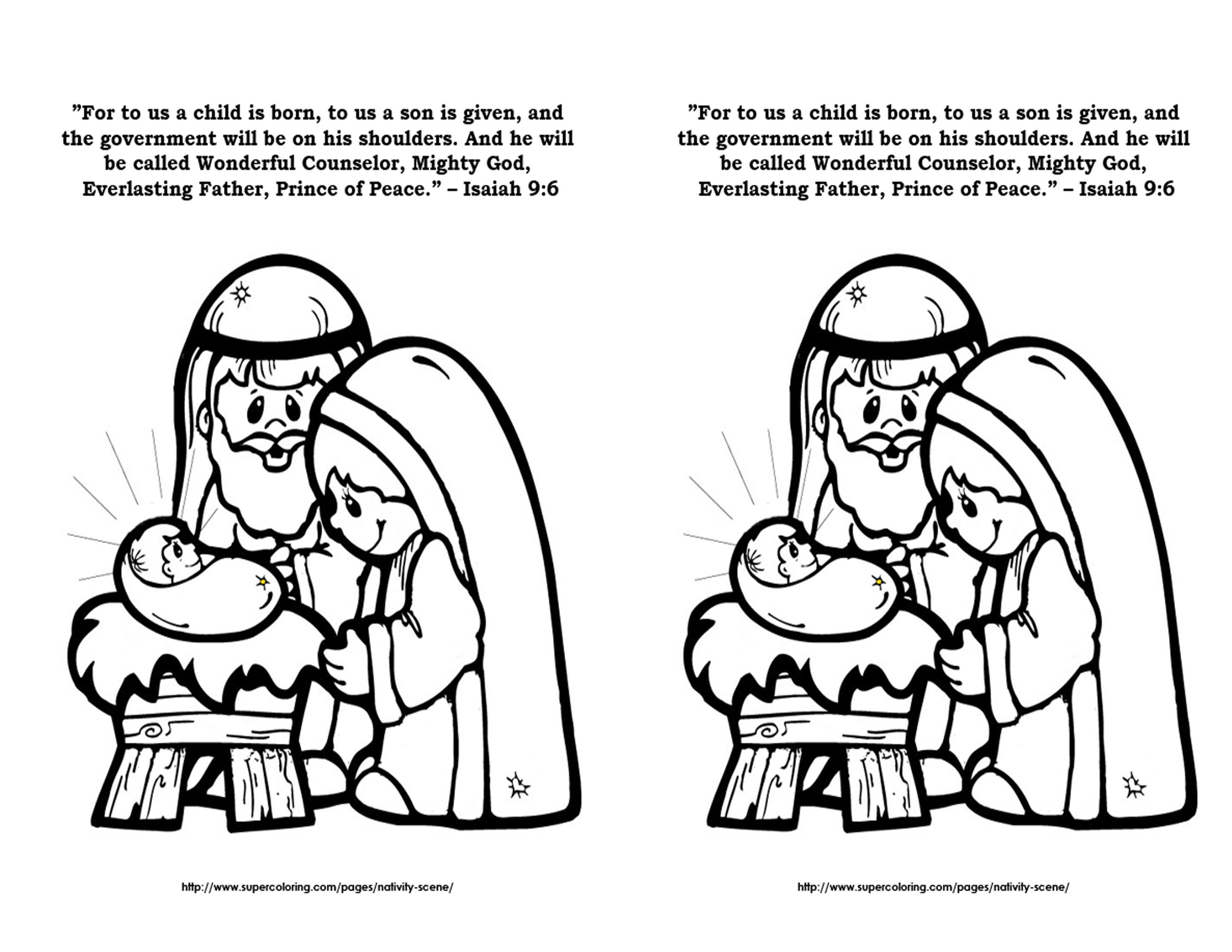Coloring pages psalm 33 - September 9 Isaiah 9 6 Coloring Page