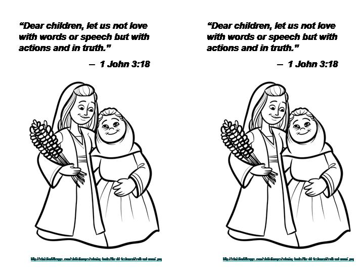 ruth gleaning coloring pages - photo#28