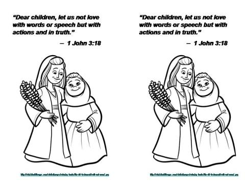 October 14 2013 1 John 3 18 coloring page