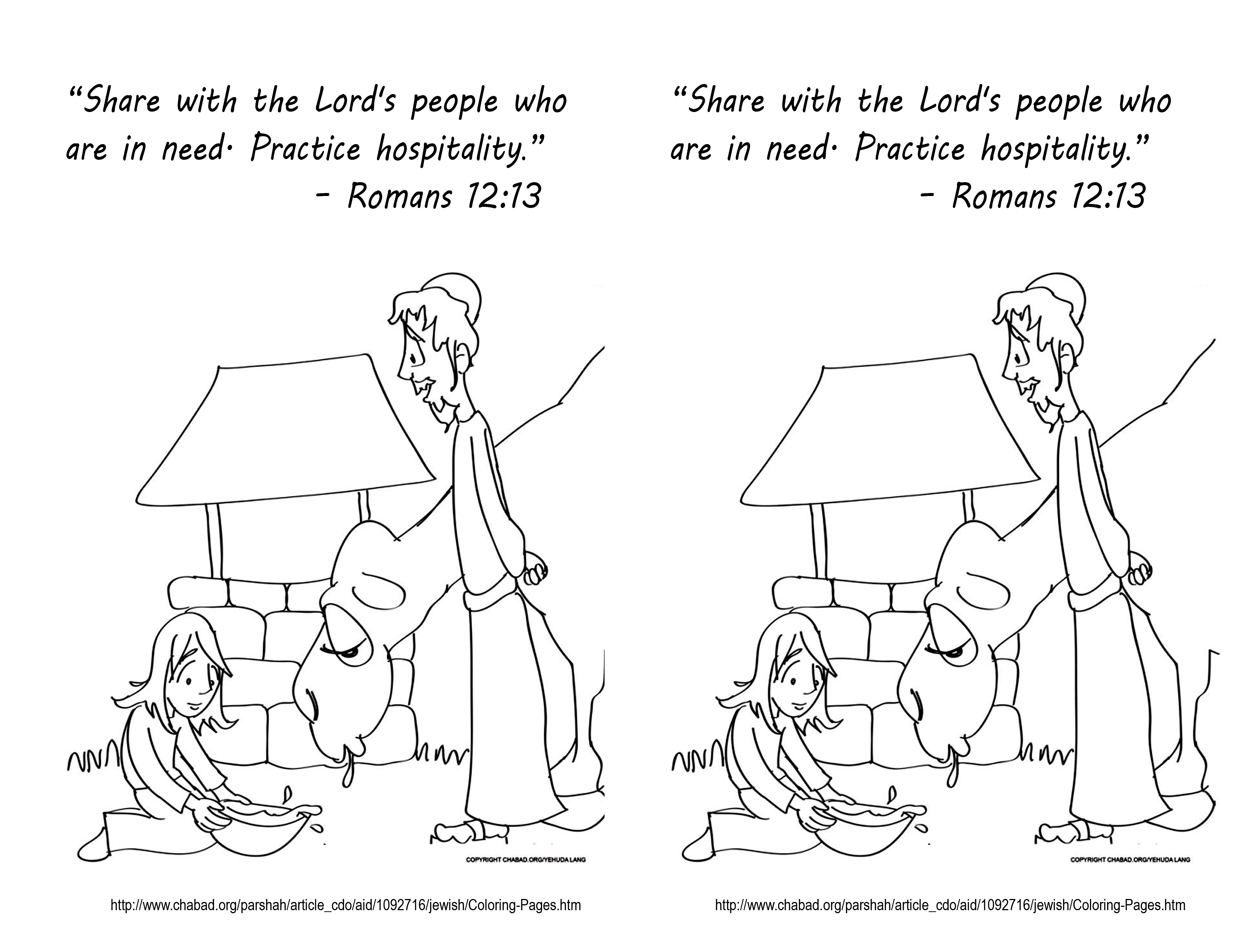 october 7 2013 romans 12 13 coloring page