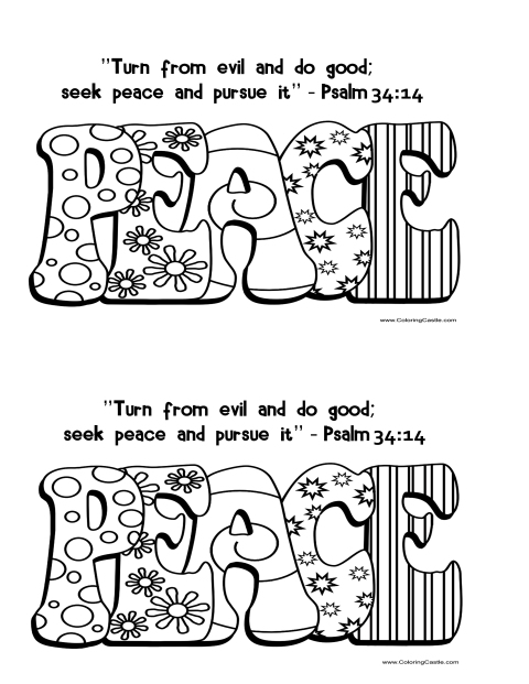 September 30 2013 Psalm 34 14 coloring page