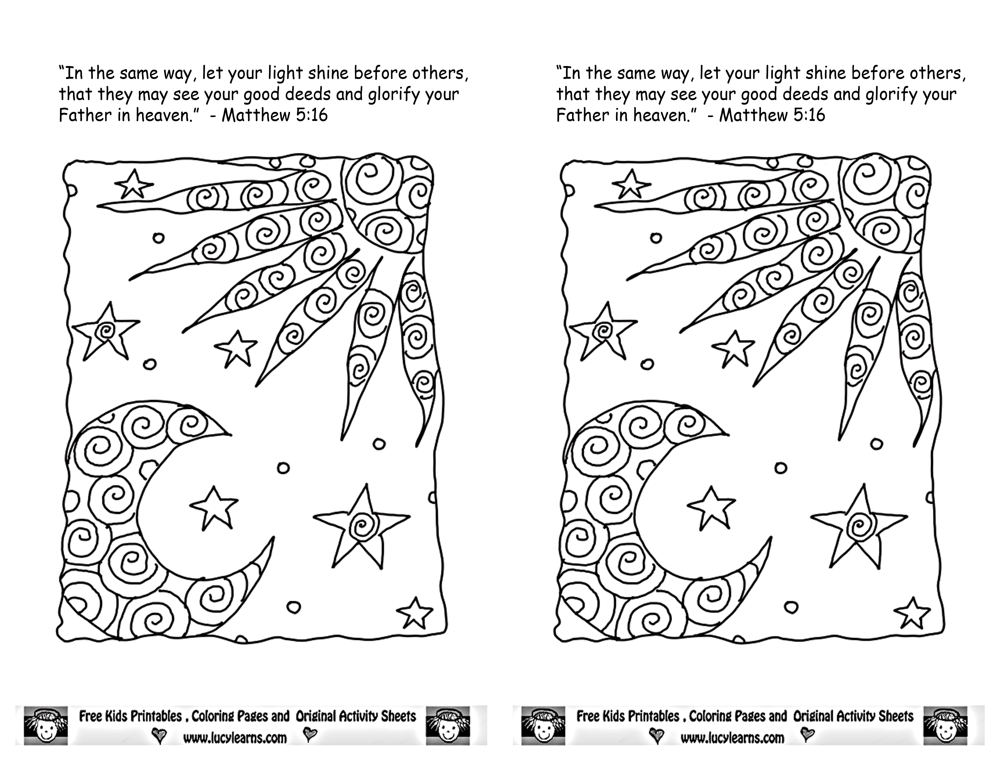 salt and light coloring page - free bible lessons fearfully and wonderfully made