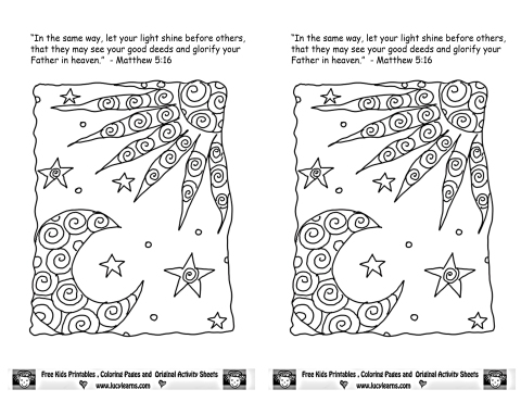 Dec 2 2013 Matt 5 16 Coloring Page