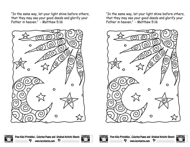 Dec 2 2013 Matt 5 16 Coloring Page