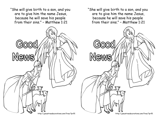 Dec 9 2013 Matthew 1 21 coloring page