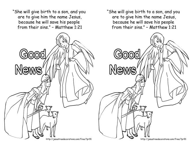 Dec 9 2013 Matthew 1 21 coloring page