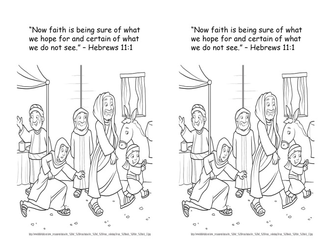 jan 13 2014 hebews 11 1 coloring page - Hebrews 13 8 Coloring Page