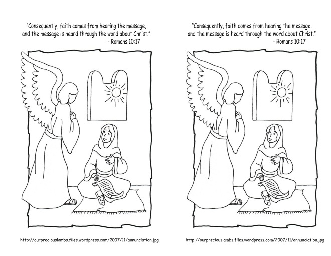 January 20 2014 Romans 10 17 coloring page
