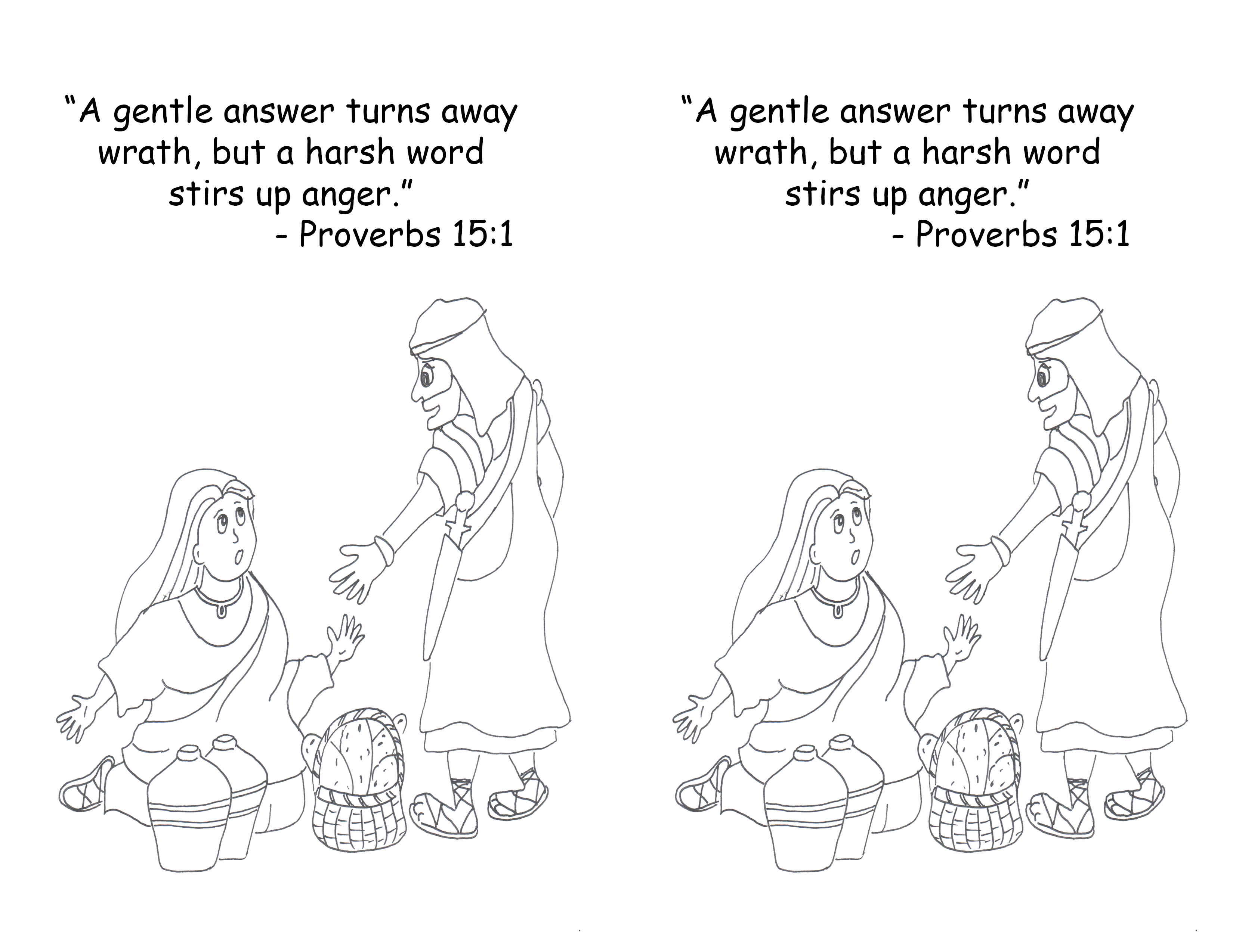 Proverbs 1 Colouring Pages