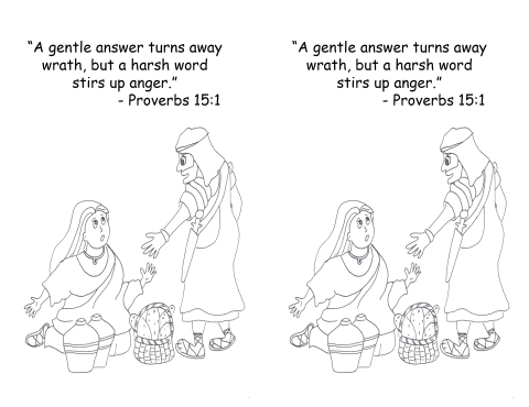 Feb 3 2014 Proverbs 15 1 coloring page