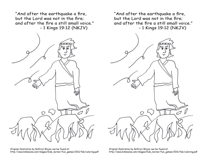 Feb 10 2014 1 Kings 19 12 coloring page