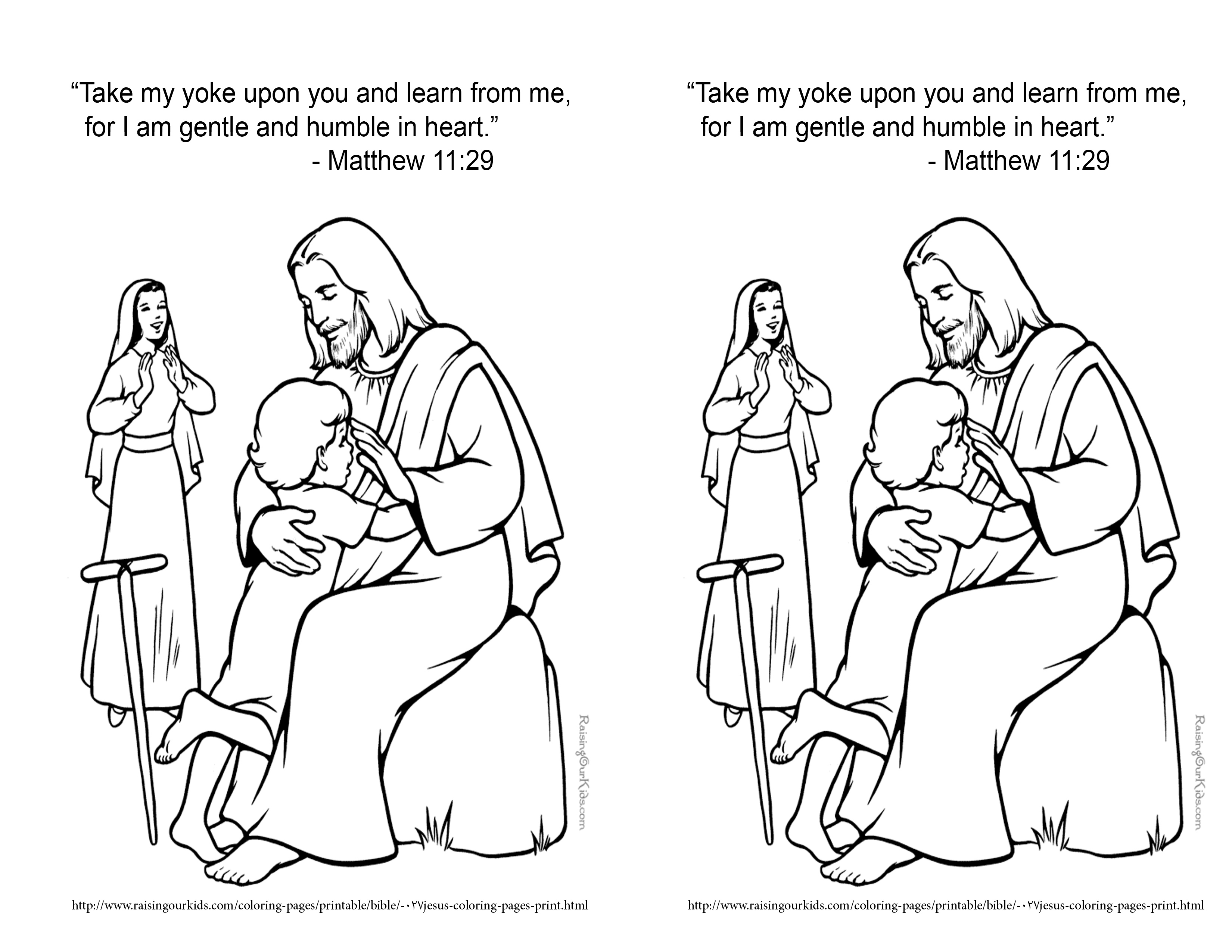 matthew 8 coloring pages - photo#34