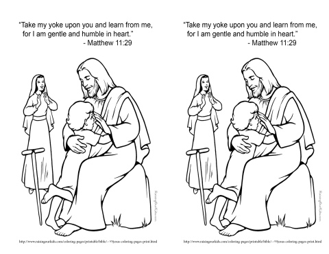Feb 17 2014 Matthew 11 29 coloring page