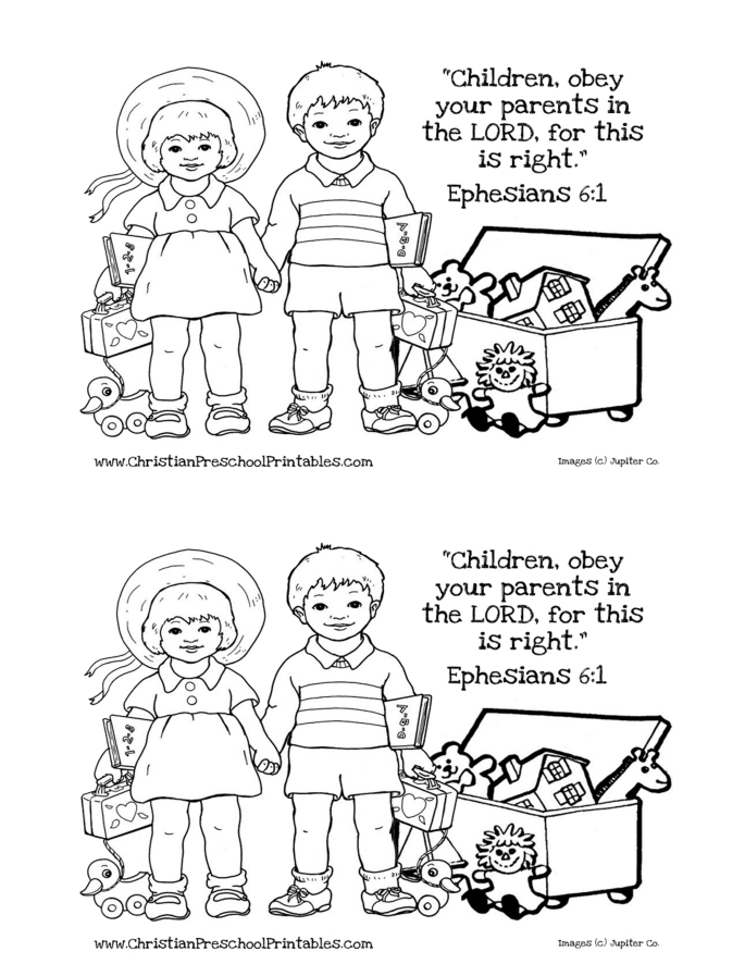 Obey Week 2 coloring page